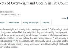肥満がもとで400万人が死亡 ジャンクフード規制を提案