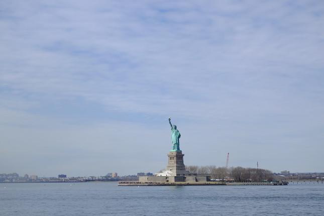 スタテン島行きのフェリーから見る自由の女神