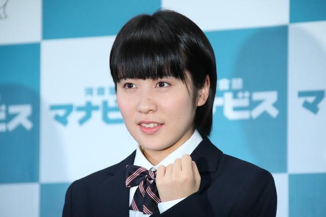 「アイドルファン」として知られる平野美宇選手(2017年1月撮影)