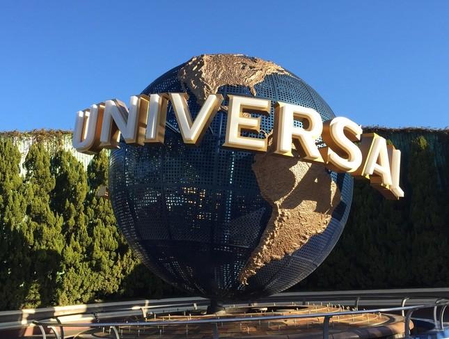 USJのシンボルとなっている地球儀のオブジェ