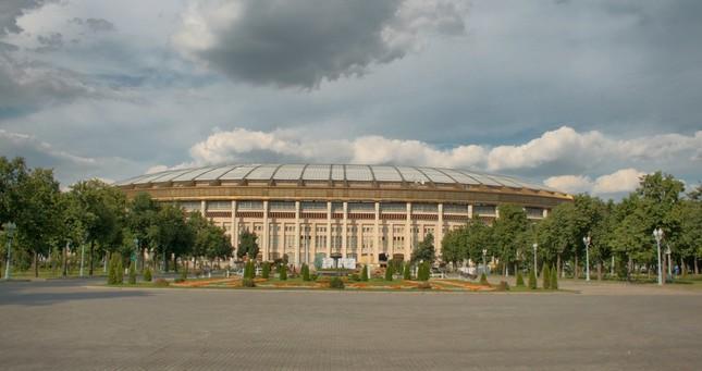 ロシアW杯で使用予定のモスクワにあるルジニキ・スタジアム(Wikimedia Commonsより。作者:E. Roman)