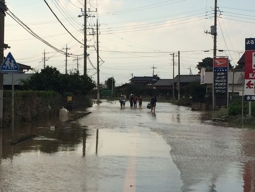 水害に見舞われた常総市も、感染症の拡大は抑え込んだ(2015年9月12日、編集部撮影)
