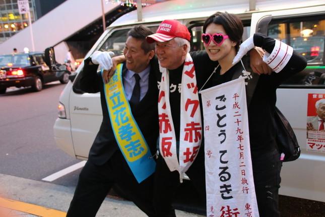 秋葉原での合同街頭演説での様子(2017年6月27日撮影)