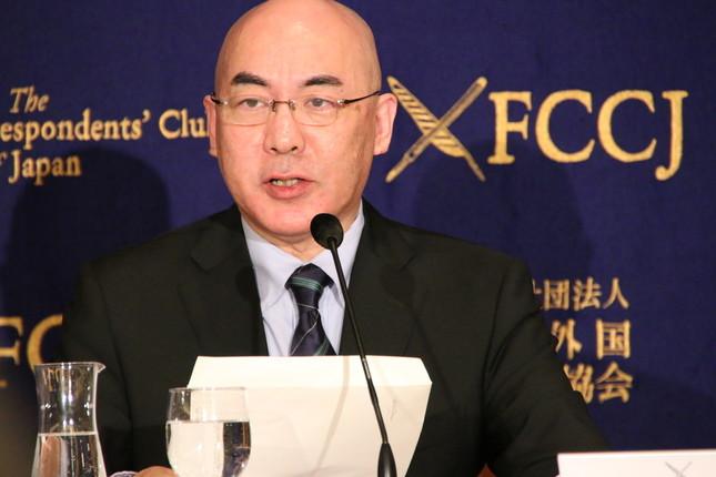 百田氏はスピーチでARICを批判した