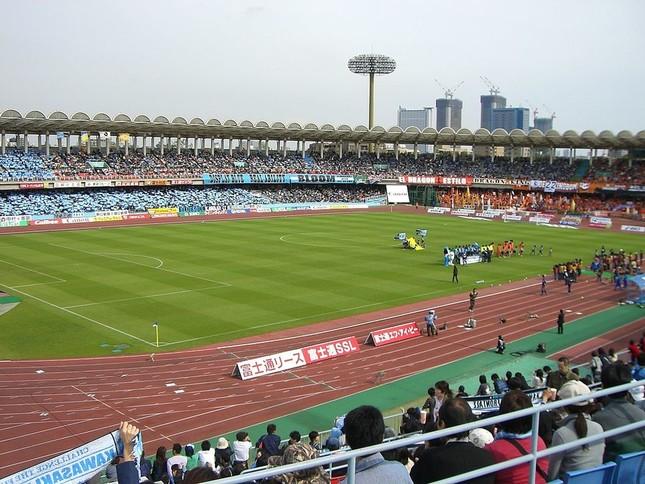 浦和‐川崎戦の行われた等々力陸上競技場(写真は、試合当日のものではありません)