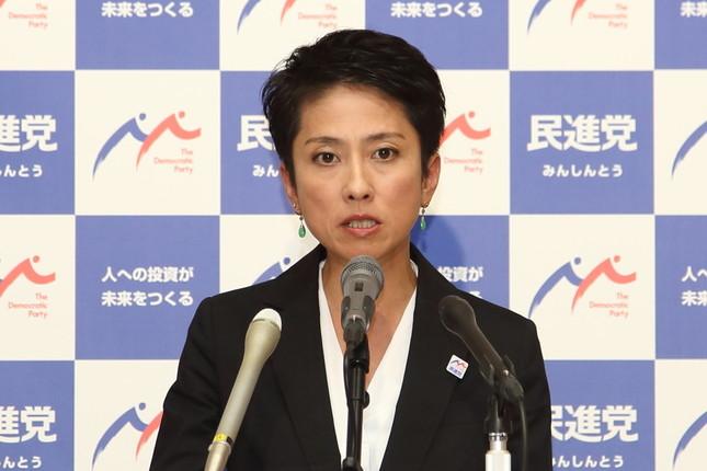 都議選後初の定例会見に臨む民進党の蓮舫代表