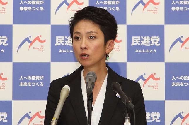 党内からも蓮舫代表の戸籍公開を求める声があがっている(写真は2017年7月撮影)