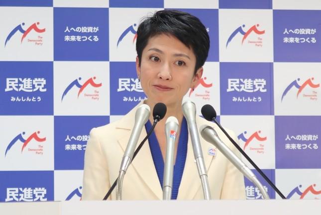 民進党の蓮舫代表(2017年4月撮影)