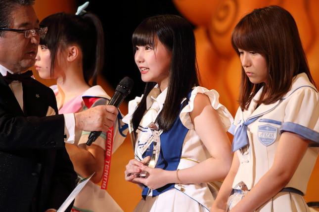 HKT48の田中美久さん。2017年の「選抜総選挙」では28位に入った(2017年6月撮影)