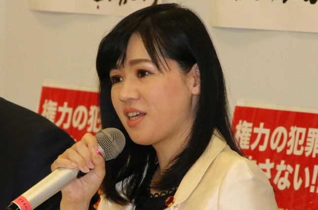 上西小百合議員(写真は2017年3月撮影)