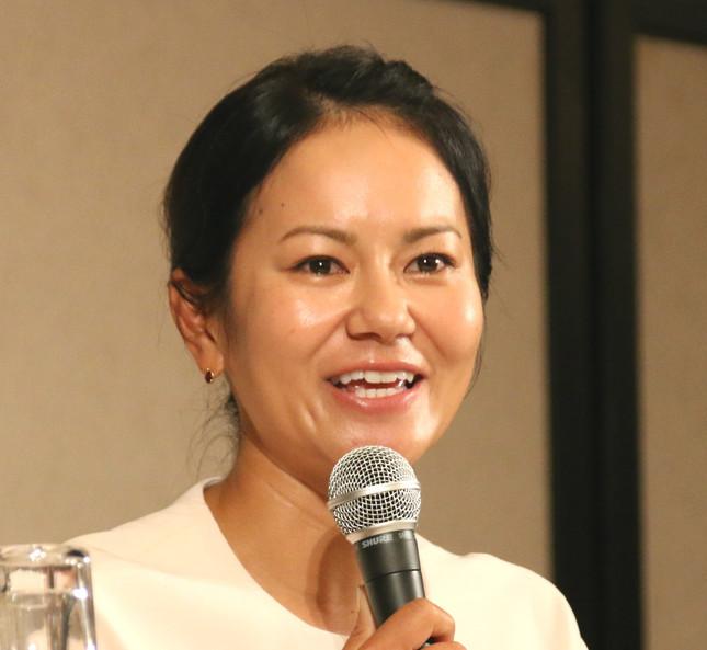 宮里藍さんは2017年5月、記者会見で現役引退を発表した(写真は、2017年5月29日の会見時)
