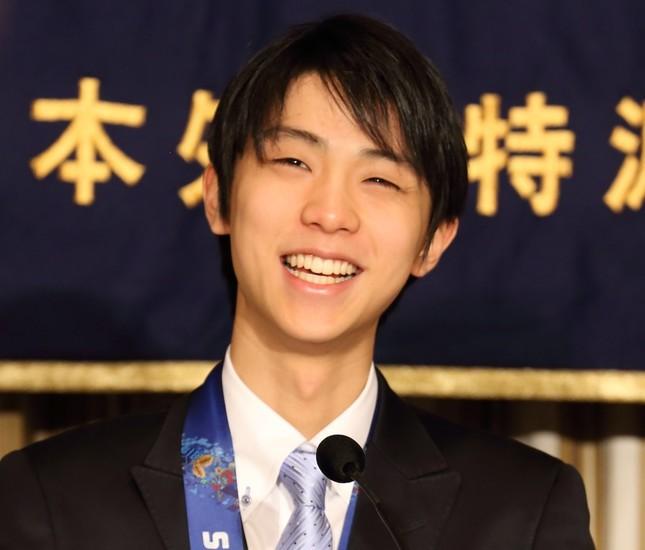 「抱かれたい男」ランキングで2位になった羽生選手(2014年撮影)