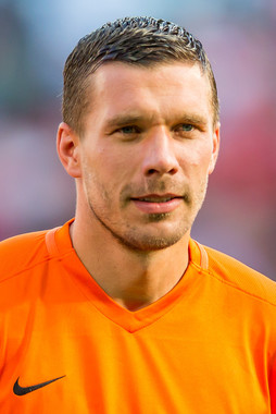 ヴィッセル神戸に加入したルーカス・ポドルスキは中国クラブとも交渉していたという(Wikimedia Commonsより。作者:Sven Mandel)