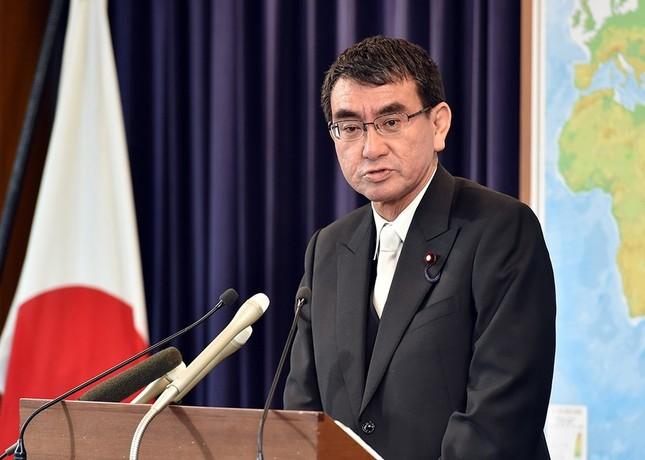河野太郎外相は就任会見で「河野談話」に対する直接の評価を避けた(写真は外務省ウェブサイトから)