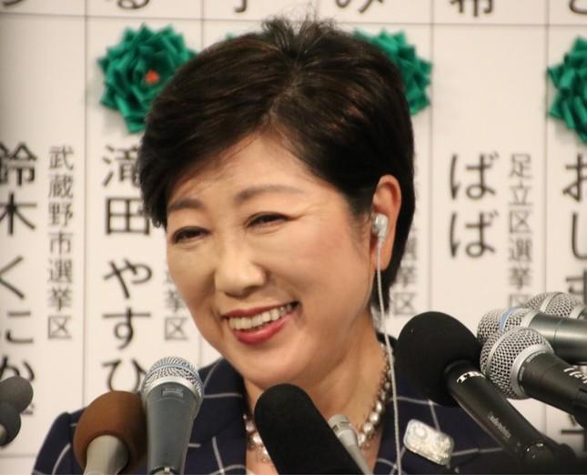 小池百合子都知事が一時代表をつとめていた都民ファーストの会は、都議選で最大会派となった(2017年7月撮影)