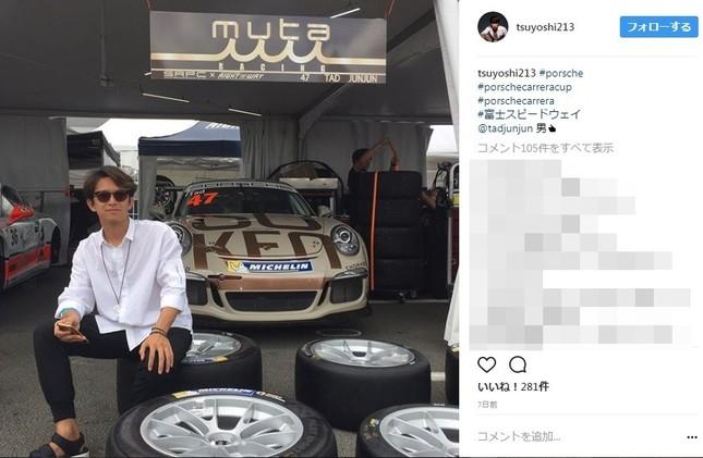 阿部力さんのインスタグラム 8月5日には富士スピードウェイでの写真を公開していた