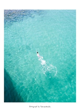 まるで広告に使われそうな人の泳ぐ姿(同)