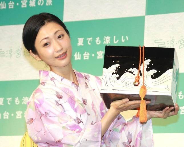 キャンペーン発表イベントに登場した壇蜜さん(2017年7月撮影)