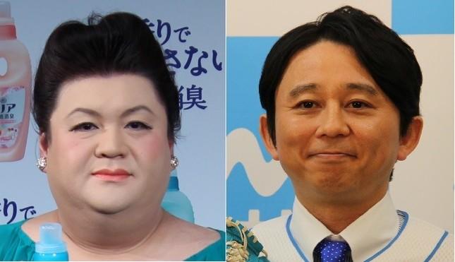 マツコ・デラックスさん(左)と有吉弘行さん(右)