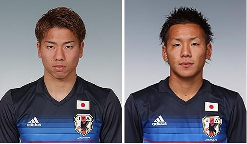 浅野拓磨(左)と井手口陽介(写真は日本サッカー協会(JFA)公式サイトから)