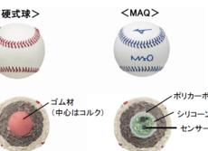 投球の「伸び」と「切れ」を数値で解析 ミズノ、投げると回転わかるボール開発