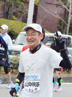 京都マラソン2017を完走した山中伸弥教授(写真提供・CiRA)