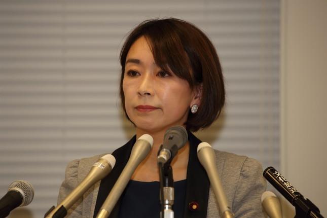 民進党の山尾志桜里議員(2016年4月7日撮影)