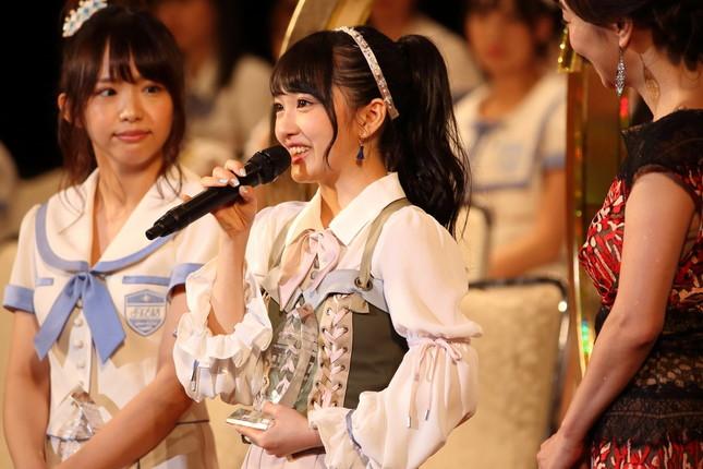 「選抜総選挙」で17位にランクインした向井地美音さん。「AKB48はAKB48のものなんだと、誰にも渡さないと!」なとど「AKB愛」を強調した