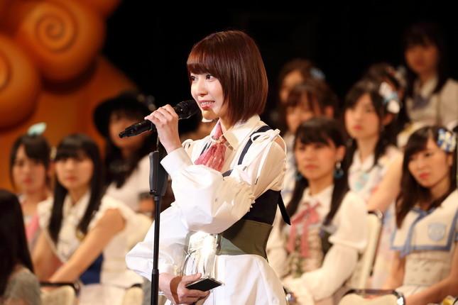 HKT48の宮脇咲良さん。「もっともっと入ってもらいたいメンバー、沢山います」と勢力拡大に意気込んだ