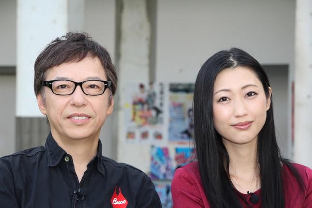 お互いの第一印象を話した壇蜜さんと板尾さん(2017年9月15日撮影)