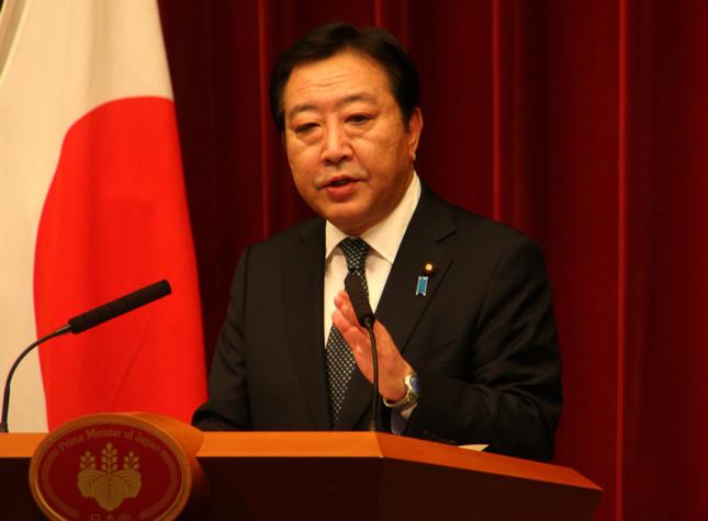 前々回の「近いうち解散」(2012年11月)で記者会見する野田佳彦首相(当時)。直後の衆院選で民主党(当時)は政権を失った