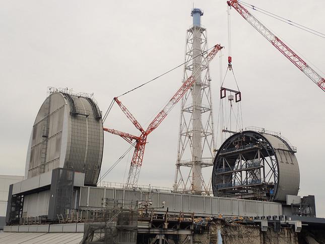 3号機原子炉建屋燃料取り出し用カバー等設置工事(2017年9月7日、東京電力)