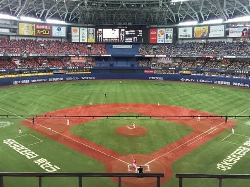 安達選手がプレーするオリックスの本拠地、京セラドーム大阪