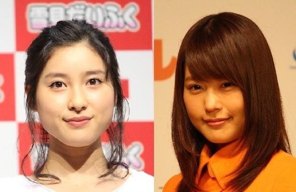 女優の土屋太鳳さん(左)と有村架純さん(右)