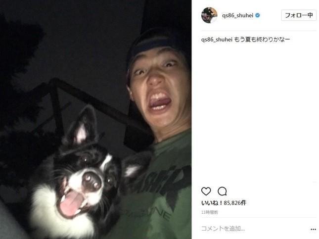 野村周平さんと愛犬の2ショット(写真は野村周平さんのインスタグラムより)