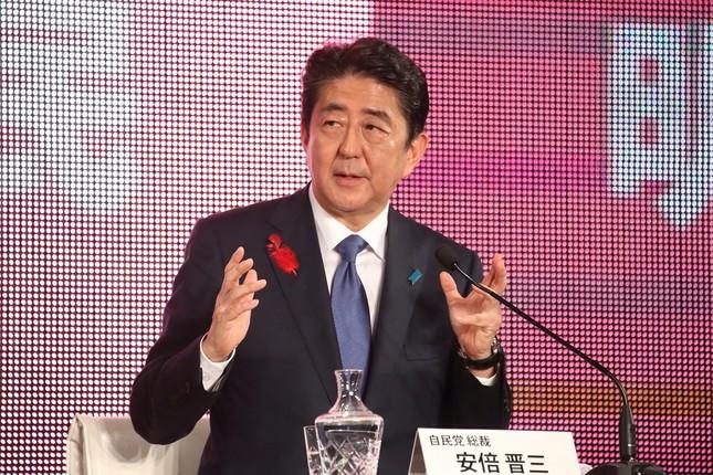 2017年10月7日の党首討論会に出席した際の安倍首相