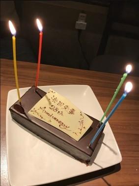 サプライズケーキも!(写真は小川菜摘さんのブログより)