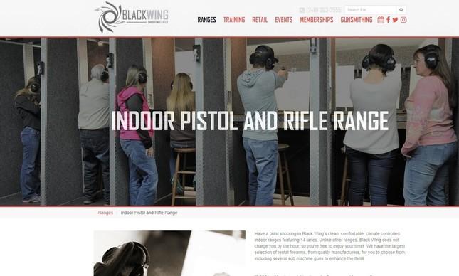 米国オハイオの銃専門店のウエブサイト