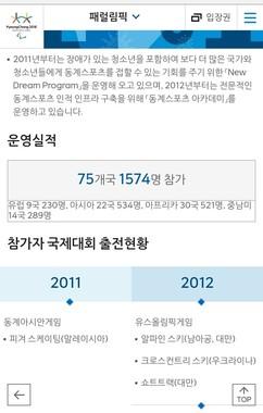 モバイル版(韓国語)。地図の存在自体が「なかったこと」になっている