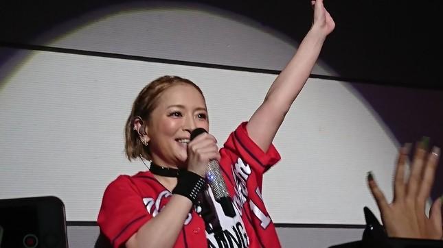 ファンからは「女神」などと大絶賛。写真は広島TA・ayuka(@ayuchanman819)さん提供