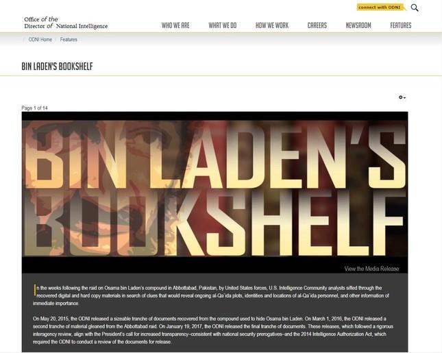 米政府が公開しているビンラディン氏の「遺品」についてのページ