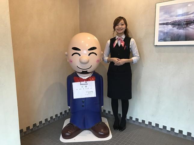 三浦孝司社長がモデルとなった同社のマスコット(画像は同社提供)