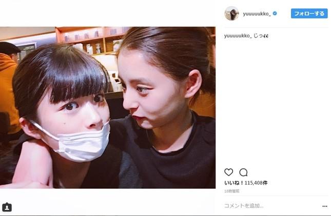 新木優子さんと馬場ふみかさんの仲良しツーショット(画像は新木優子さんのインスタグラムより)