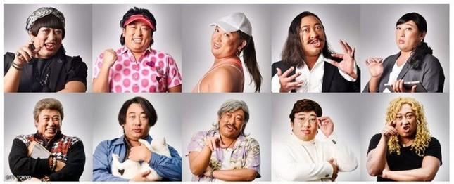 容疑者一覧。すべてロバートの秋山さんが演じる(画像はテレビ東京の番組公式ホームページより)