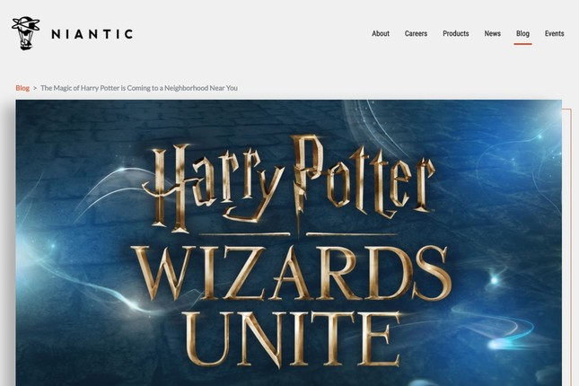 「Harry Potter : Wizards Unite(邦題未定)」(画像はNiantic公式サイトより)