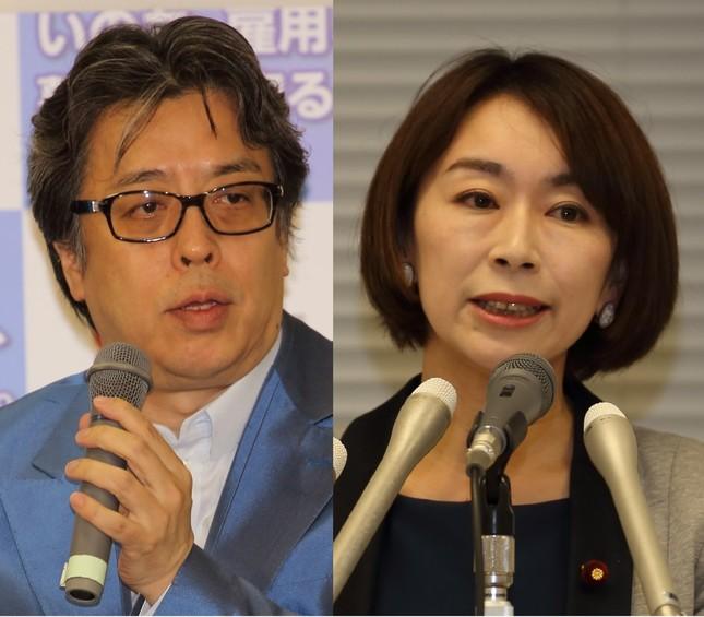 小林よしのり氏(左)は山尾志桜里議員に変わらぬ期待を寄せている