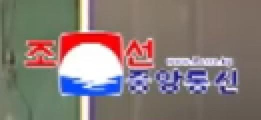 2017年10月下旬から朝鮮中央通信の写真右下に登場したロゴ。日の出を念頭においているとみられる
