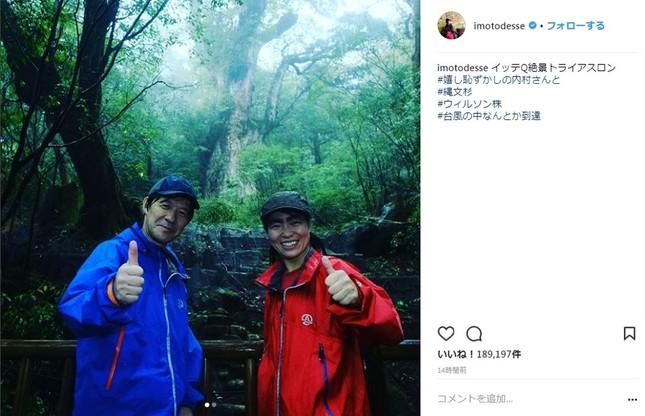屋久島を訪れた内村光良さんとイモトアヤコさん(画像はイモトアヤコさんのインスタグラムより)