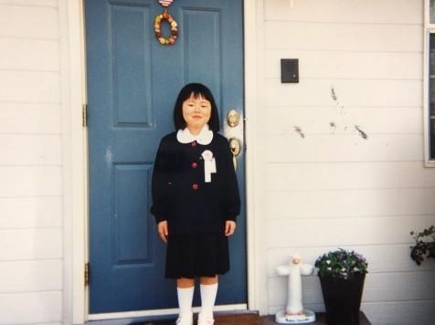 6歳当時のブルゾンちえみさん(画像は公式ブログのスクリーンショット)