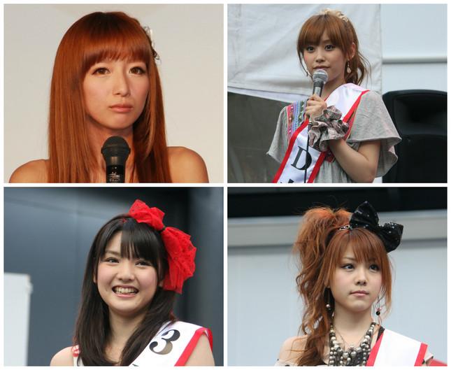 (左上から時計回りに)辻さん、高橋さん、田中さん、道重さん